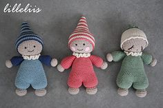 lilleliis - world full of amigurumi and cuteness : Kaisu-Märt, Kaisu-Kärt ja… Diy Crafts Crochet, Crochet Gifts, Crochet Projects, Amigurumi Animals, Amigurumi Doll, Knitted Dolls, Crochet Dolls, Knit Or Crochet, Crochet Baby