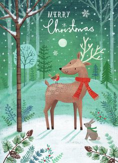Joanne Cave   Advocate Art Noel Christmas, Christmas Greetings, Winter Christmas, Vintage Christmas, Xmas, Happy Birthday Floral, Illustration Inspiration, Christmas Illustration, Christmas Background