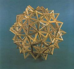 Leonardo style polyhedra : compound of five Tetrahedra; solid starred Small  Rhombicosidodecahedron (Compare with : The Realm ... , Plate XI);