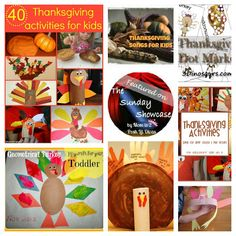 kid friendly Thanksgiving activities, crafts, play, learning & more as featured on the Sunday Showcase