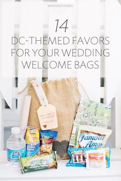 Wedding Gift Bag Ideas Washington Dc : + ideas about Wedding Hotel Bags on Pinterest Welcome Bags, Wedding ...