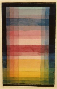 Paul Klee color study. Things always make sense for a reason. Everything has a structure and function.