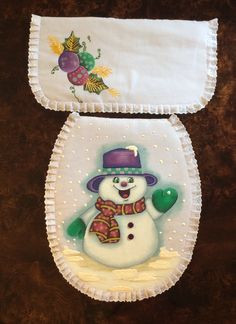 Navidad Navidad Christmas Bathroom Sets, Santa Ho Ho Ho, Acrilic Paintings, Christmas Sewing, Kitchen Sets, Quilt Patterns, Sewing Crafts, Snowman, Xmas