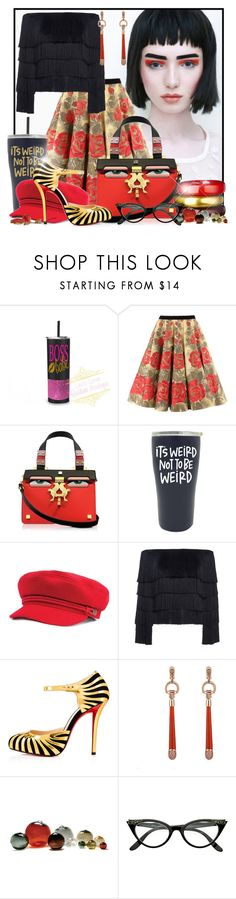 """""""Here's looking at you kid"""" by doozer ❤ liked on Polyvore featuring Giancarlo Petriglia, A.L.C., Christian Louboutin, Gucci, SkLO and ZeroUV"""
