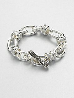 Pomellato 67 Sterling Silver Chain Link Bracelet/Marcasite
