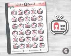 New Girl Tv Show Planner Stickers - watch television shows planning Zooey Deschanel condren planners calendar tv decals SC.TV.NWGR.0217 by StickerSquirrel on Etsy