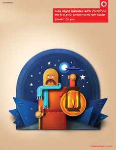 Paper perfect Indian characters - Vodafone