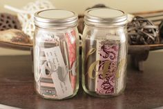 365 days of love notes for your sweetheart. Show how much you love someone with this Jar of Hearts. Sweetheart Quotes, Gold Mason Jars, Jar Of Hearts, Birthday Presents For Him, Christmas Gifts For Husband, Anniversary Gifts For Him, Meaningful Gifts, Love Notes, Love Cards