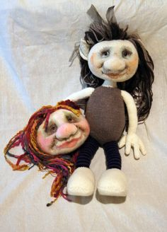 This is my prototype Goblin girl with the head of her friend. The friend now has a body I am happy to say.