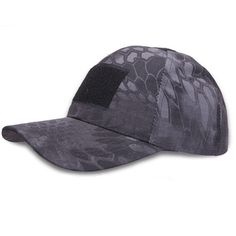 DXdesign Tactical Men Outdoor Camouflage Cap Stitched Velcro Hunting Fishing  Outing Hat (black python). √ Made of the Materials-Nylon. bf8d8734d38d