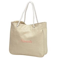 """100% Cotton Canvas Tote Bag Size: 15""""W x 13.5""""H x 4""""D Made to withstand rigorous use, this 16 oz 100% cotton canvas tote is spacious, practical and eco-friendly. Great for shopping, workout, travel etc."""
