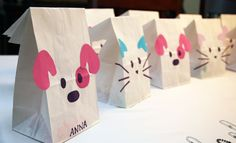 Cat birthday party themes and Dog birthday party themes and favors