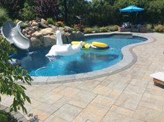 The perfect spot for your weekend get-away! Create the pool patio you have always dreamt of! Click the photo for more pool patio photographs from Cambridge Paver's design gallery. Installation: JBA Pool
