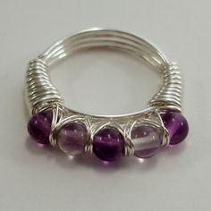 DIY jewelry tutorials: These stylish rings are quick and easy to make, producing a striking design and a very robust ring.