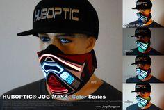 Huboptic® Rave Mask Bandana Led JOG Light Up Mask DJ Rave Cyborg Sound Reactive Mask Robot Edm tron costume Cosplay Edm Festival, Festival Outfits, Rave Outfits, Cool Outfits, Tron Costume, Rave Mask, Rave Wear, Black Feathers, Jogging