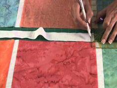 Fons & Porter: Sew Easy, Sashing Alignment - YouTube