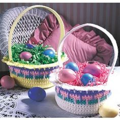 Crocheted Easter Bas