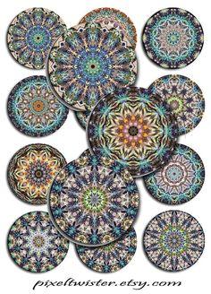 Mandala Collage by Deborah Kathleen Holland