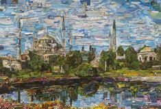 Vik Muniz, Postcards from Nowhere: Istanbul, 2017, Digital C-print, 101 x 150 cm. Courtesy of the artist and Dirimart.
