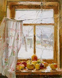 windows-in-art: Anastasia Dukhanina Window Art, Window Ledge, Russian Art, Love Art, Painting & Drawing, Watercolor Art, Art Projects, Art Photography, Illustration Art