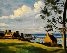 Andre Derain - The Port of Douarnenez, 1936 at the Virginia Museum of Fine Arts (VMFA) Richmond VA