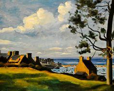 """Andre Derain - """"The Port of Douarnenez"""", 1936 at the Virginia Museum of Fine Arts (VMFA) Richmond VA"""