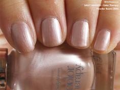 Sally Hansen Color Therapy in Powder Room (swatch by fivezero.ca) [frost, beige]