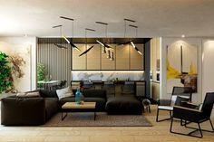 cuisine avec coin repas et salon: meubles et décoration en bois clair