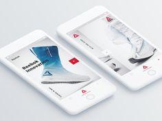 #reebok #app #mobile Ui Ux Design, Mobile Ui, Reebok, Innovation, Presentation, App, Apps