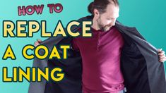Do you have an old coat or jacket with a torn lining? In this tutorial I will show you how you can reline your own coat or jacket using the old lining as a pattern. I Will Show You, Old Things, Ads, Coat, Pattern, Jackets, Down Jackets, Sewing Coat, Patterns