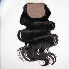 """6A & 7A 100% virgin human hair body wave closure.  Indian, Malaysian, Brazilian, Peruvian, Mongolian, Chinese, Russian, Filipino, Eurasian, Cambodian, European, Burmese and Bohemian.  Silk base. 4"""" x 4""""."""