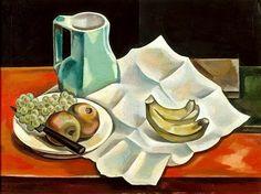 """Maria Blanchard (1881 - 1932) """"Still life with bananas"""""""