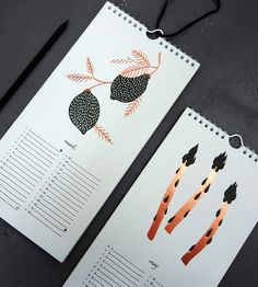 2014 Seasonal Produce Letterpress Calendar | Bison Bookbinding & Letterpress | Scoutmob Shoppe |