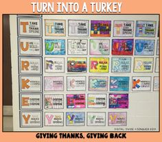 Turkey for you, Turkey for me.  I think you need a freebie.  Grad this TURKEY poster set for you class and foci on giving and thanks this holiday season.