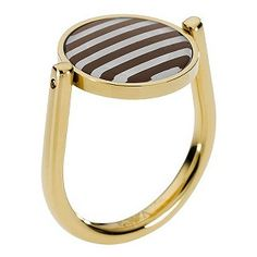 Emporio Armani gold-plated circle stripe ring