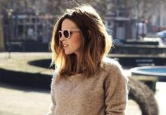 Time to chop it off, love this style, length, & subtle ombre.: