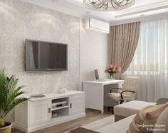 Женская классика. Трехкомнатная квартира в Москве. Гостиная
