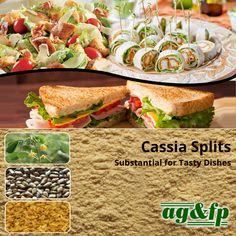 #CassiaSplits have versatile uses on tasty meat dishes likes; -	Salads -	Appetizers -	Frozen meat course -	Sandwich Know more at  #AmbaGums
