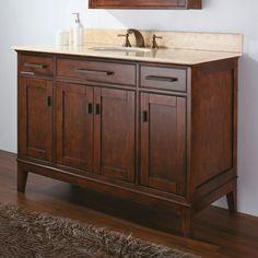 "48"" Tobacco Madison Vanity for Undermount Sink - Bathroom Vanities - Bathroom"