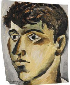 John Craxton, Self-Portrait, Poros, 1946. Private Collection