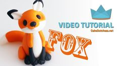 How to make a cute Fox Cake Topper - Cake Decorating Tutorial with Cake Dutchess - YouTube
