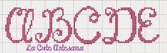 La Cute                                                                 Artesana: ABC JANDA HAPPY DAY 40 PUNTOS MAYUSCULAS