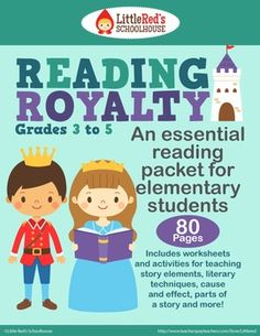 Reading Royalty - An Essential Reading Packet for Elementary Students - 80 pages of useful worksheets and activities! $