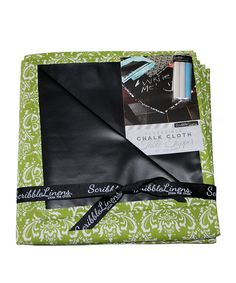Take a look at this Chartreuse Damask Table Topper on zulily today!