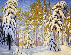 Northwoods landscape paintings | Winter, North Woods c.1917-18Lawren Harris