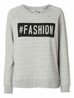 @Veronica MODA #Graphic #statements  FASHION L/S SWEAT - Vero Moda