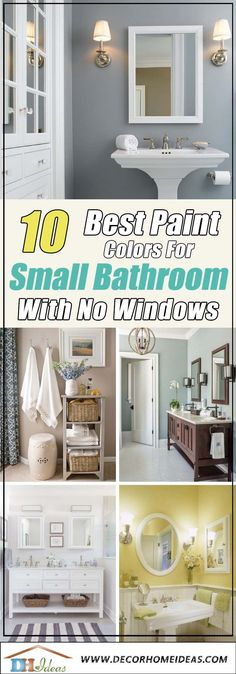10 Best Paint Colors for Small Windowless Bathroom Colors paints trends and best ideas and decoration tips on bathroom and small bathrooms witn no windows Small Bathroom Paint Colors, Bathroom Layout, Modern Bathroom Design, Bathroom Interior Design, Bathroom Ideas, Best Color For Bathroom, Colors For Small Bedrooms, Blue Bathroom Paint, Bathroom Accents
