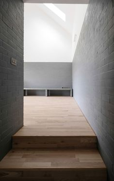 Image 16 of 22 from gallery of House Lessans by McGonigle McGrath Wins RIBA House of the Year Photograph by Aidan McGrath Architecture Today, Contemporary Architecture, Living Area, Living Spaces, Zinc Roof, Concrete Block Walls, Light Hardwood Floors, Office Fit Out, Architect Design