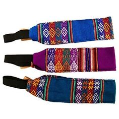 Two Women's Cotton Headband Multicolored Assorted Peru Fair Trade