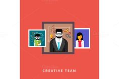 Check out Portraits of creative team people by robuart on Creative Market